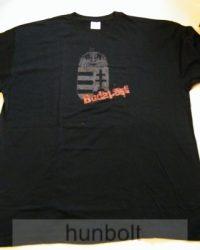Fekete póló, szürke címeres Budapest felirattal XL méret