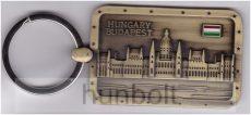 Országház kulcstartó bronzból,  4 szögletes , mérete: 6x4 cm