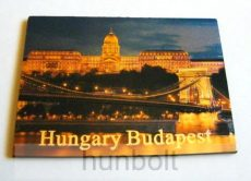 Budapest Budai Vár és Lánchíd hütőmágnes, arany színű