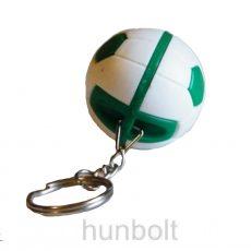 Fradi focilabda kulcstartó- zöld-fehér