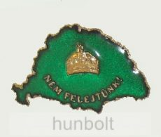 Nagy-Magyarországos zöld koronás jelvény (39x24 mm)