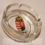 Címeres üveg hamutál Hungary feirattal 10 cm