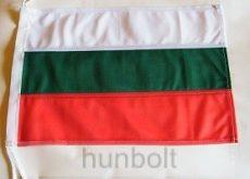 Hajós, színenként varrott, zsinóros bulgár zászló