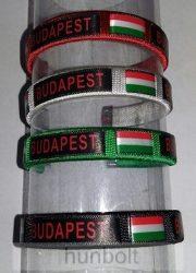 Cérnás Budapest-zászlós karkötő