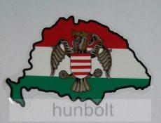 Nagy-Magyarország nemzeti belső matrica, pajzsos turullal (15x10cm)