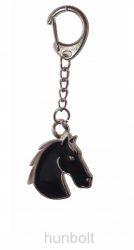 Lófej fekete háttérrel kulcstartó 3,2x3,5 cm