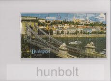 Puzzle képeslap Budapest,  Lánchíd, 12x23 cm