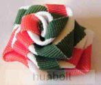 Kokárda rózsa nemzeti színű szalagból