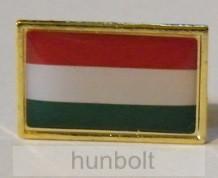 Aranyszélű 4 szögletű  nemzeti jelvény 20 mm