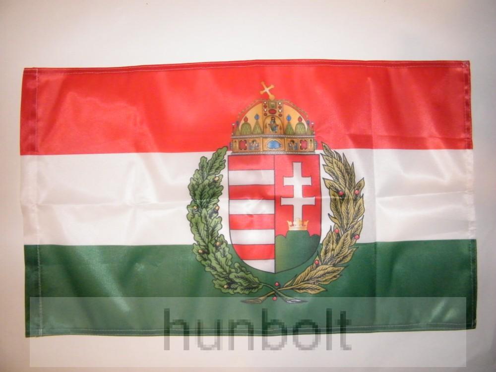 412902a595 Koszorús címeres motoros zászló 25X35 cm,