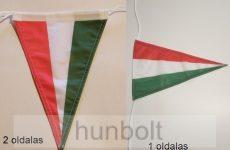 Nemzeti 3 szögletű, hajós zsinóros 20x30 cm zászló