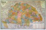 Magyarország (Homolka) 1899 reprint falitérkép papír 125x90 cm