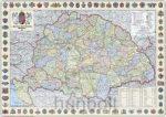 A Magyar Szent Korona országai 1914 (1:360 000) 125x90 cm térkép