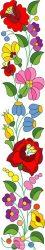 Kalocsai virág matrica 46x10 cm