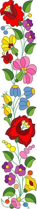 892ee48105 Kalocsai virág matrica 46x10 cm - Magyaros termékek