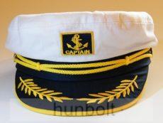 Kapitány sárga zsinóros, fix méretű sapka