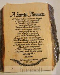 A Szeretet Himnusza - fatáblás falikép
