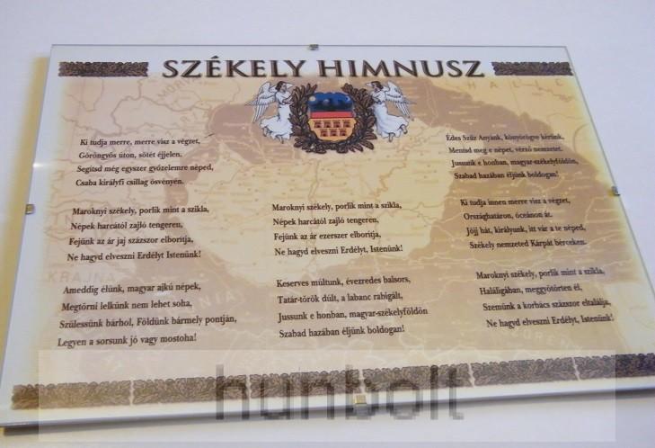 Asztalra tehető és falra akasztható üveglapos Székely Himnusz 21X30 ... d46a945ccb