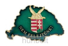 Nagy-Magyarországos zöld turulos címeres jelvény (39x24 mm)