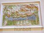 Balaton- felvidék műanyag térkép 26x18 cm
