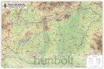 Magyarország domborzata és vizei 123x89 cm
