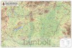 Magyarország domborzata és vizei 123x89 cm Ívben, fóliázva