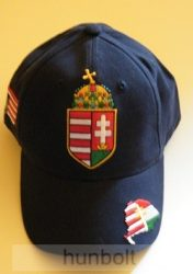 Nagy címeres kék baseball sapka, Nagy-Magyarország hímzéssel
