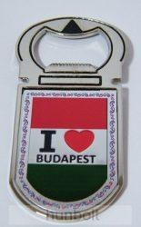 Sörbontó hűtőmágnes - I Love Budapest