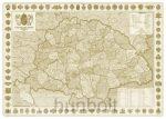 A Magyar Szent korona országai (1:1 600 000), 70x50 cm (B/2) antik, fóliás faléces