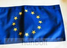 Európai uniós motoros zászló, 25X35 cm