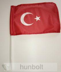 Autós török zászló ablakra tűzhető, műanyag tartóval (25x35 cm)