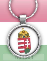 Magyar címer üveglencsés kulcstartó