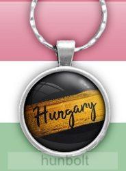 Hungary felírattal üveglencsés kulcstartó