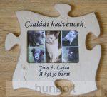 Puzzle kép keret egyedi garavírozott felirattal