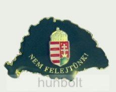 Nagy-Magyarországos zöld címeres jelvény (39x24 mm)