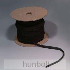 Lapos fekete gumiszalag 5 mm szélességű 10 méter /csomag