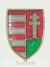 Szabír -Magyar pajzs címeres jelvény (14x20 mm)