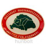 Igazságot Magyarországnak ovális jelvény (20 mm)