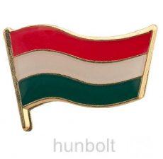 Magyar lobogó ezüst jelvény (21 mm)