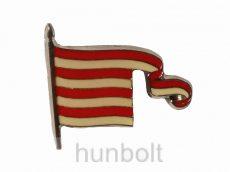 Árpádsávos zászló jelvény (25x21 mm)