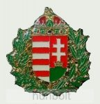 Zöld koszorús címer jelvény