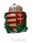 Zöld koszorús címerpajzs (17x25 mm)