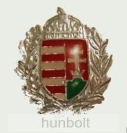 Ezüst koszorús címer jelvény (25 mm)