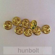 Jelvény gomb, pillangó patent- arany