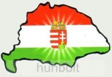 Címeres hűtőmágnes Nagy-Magyarország körvonallal