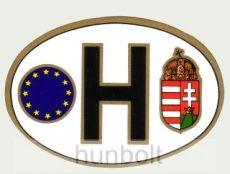 Öntapadó külső matrica, ovális EUS -H címeres  (12X8 cm)