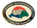 Igazságot Magyarországnak ovális jelvény, fekete széllel (20 mm)