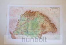 Kárpát-medence domborzata íves térkép AKCIÓ!