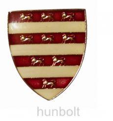 Árpádházi pajzs jelvény (25x30 mm)