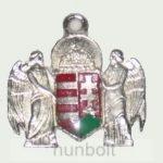 Ezüst angyalos nyaklánc bőr szíjjal (30x28mm)